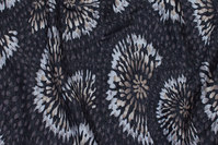 Koksgrå vinterjersey med sandfarvede cirkler