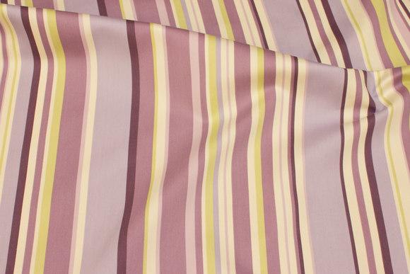 Lyslilla bomuld-polyester satin med striber på langs