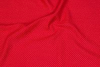 Rød bomuld med hvid miniprik