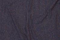 Støvet gråblå jersey med diskrete farvede nister