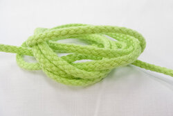 Anoraksnor bomuld lime 5mm
