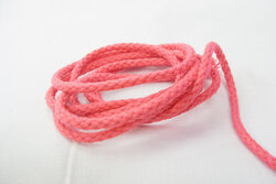 Anoraksnor bomuld pink 5mm