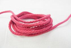 Anoraksnor bomuld mørk pink 5mm