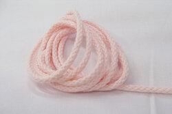 Anoraksnor bomuld lyserød 5mm
