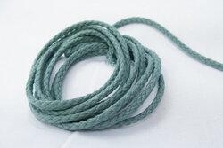 Anoraksnor bomuld mandelgrøn 5mm