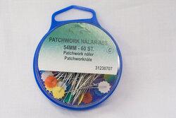 Patchwork knappenåle med fladt hoved ca60stk