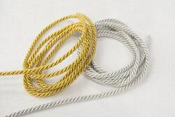 Guld- og sølvsnor 4mm