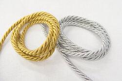 Guld- og sølvsnor 7mm