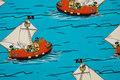 Turkis bomuldsjersey med Rasmus Klumps skib