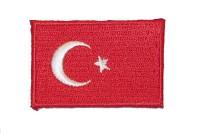 Tyrkisk flag strygemærke 5 x 3 cm