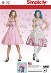 Lolita og rockabilly kjoler, 7 designs