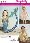 Havfrue og fe-kostumer til dukker