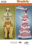 Victoriansk safari, top, corset, nederdel