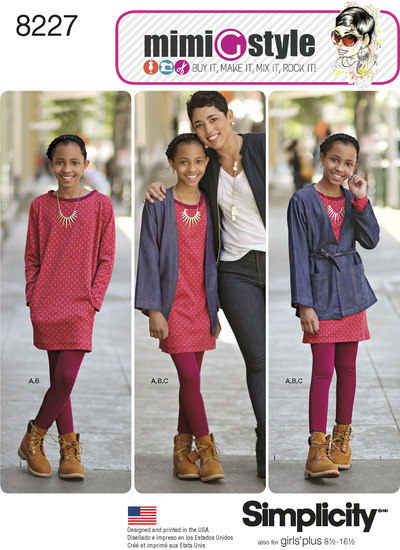 Jakke, kjole, leggings, Mimi G style