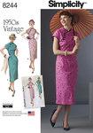 1950er kjole, 4 designs