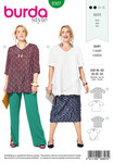 Burda 6307. Asymmetrisk top.