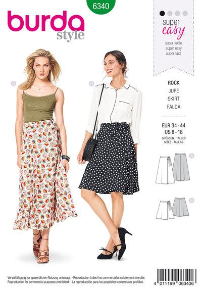 Slå-om nederdel i kort og lang
