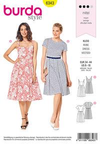 Pinafore kjoler. Burda 6343.