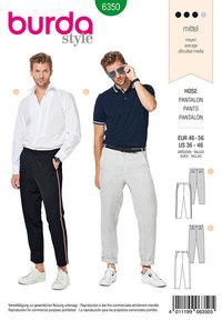Bukser til mænd. Burda 6350.