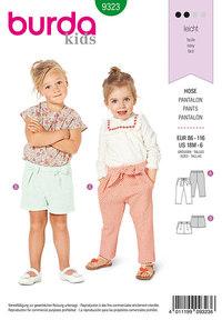 Bukser med elastiktalje til børn. Burda 9323.