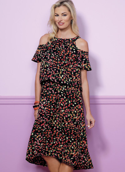 Blouson kjole med ex stropper