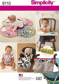 Babyting, gulvtæppe, hagesmække m.m.. Simplicity 8110.