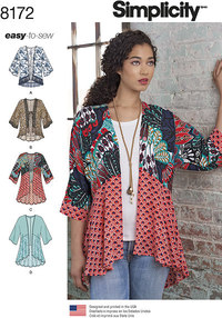 Mode kimonoer. Simplicity 8172.
