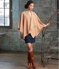 Fleece poncho slå-om design