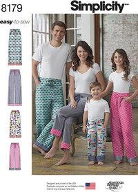 Joggingbukser til familien. Simplicity 8179.