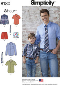 Skjorter, shorts, slips. Simplicity 8180.