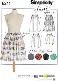 Dirndl nederdel i tre længder. Simplicity 8211.