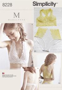 BH, lingerie, 8 designs. Simplicity 8228.