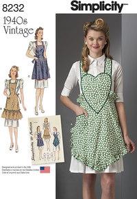 Forklæder i klassisk 1940-stil. Simplicity 8232.