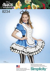 Alice i eventyrland. Simplicity 8234.