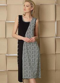 Vogue 9254. Pulloverkjoler med asymmetrisk Forside, Marcy Tilton.