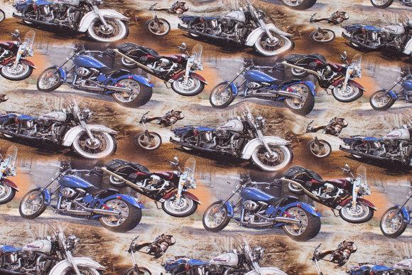 Bomuldsjersey med seje motorcykler