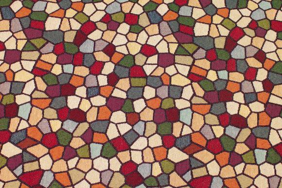 Jacquardvævet møbelgobelin med mosaikmønster
