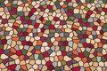 Jacquard-woven furniture gobelin with mosaic-pattern.