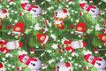 Jule bomuldsjersey med snemænd og julemænd.