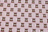 Lysegrå bomuldsjersey med små oddere