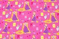 Pink bomuldsjersey med Rapunzel.