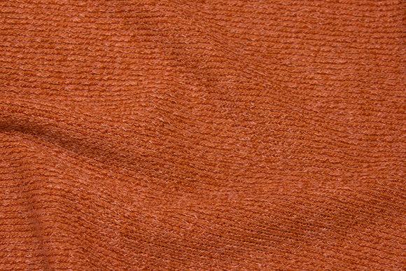 Rustfarvet, blød strik