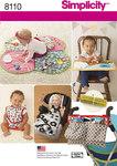 Simplicity 8110. Babyting, gulvtæppe, hagesmække m.m..