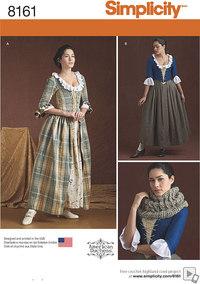 1800-tals kjoler. Simplicity 8161.