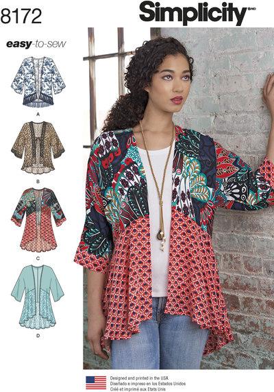 Mode kimonoer med længde