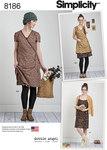 Simplicity 8186. Slå-om-kjole i vintage stil.