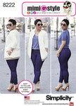 Simplicity 8222. 2 Mimi G jakke og stræk skinny jeans.
