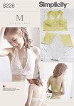 Simplicity 8228. BH, lingerie, 8 designs.