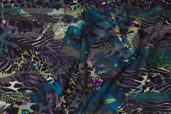 Vinterjersey med flock (velour) print