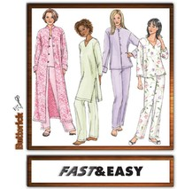 Butterick mønster: Jakke, Robe, Top, Tunic And Bukser